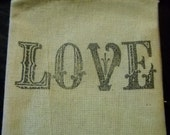 10 Love Muslin Bags-Perfect for Wedding Favors, Anniversary parties-Drawstring Bags 3x4