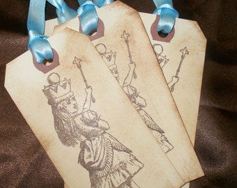 Alice in Wonderland Gift Tags-Birthday Tags-Set of 5