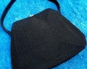 SALE 1950s Genuine Silk Corded French Evening Handbag