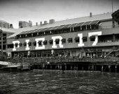 "Vintage New York City Seaport - Pier 17 / Black and White Photo 12""x18"""