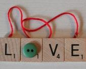 Love Scrabble Tile Ornament