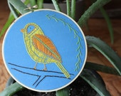 RESERVED FOR MEREDITH: Summer Song Bird Embroidery