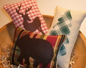 Mini Lodge / Cabin Decor Pillows, Bowl Fillers