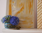 Marigold & Stone 16 x 20 Abstract Painting