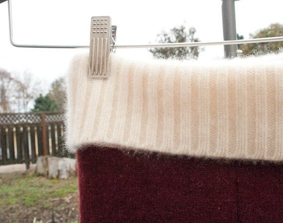 X-tra Large - Upcycled Wool Longies - Made from Recycled Sweaters