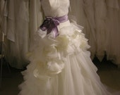 Vera Wang Inspired Wedding Gown ball gown with purple sash