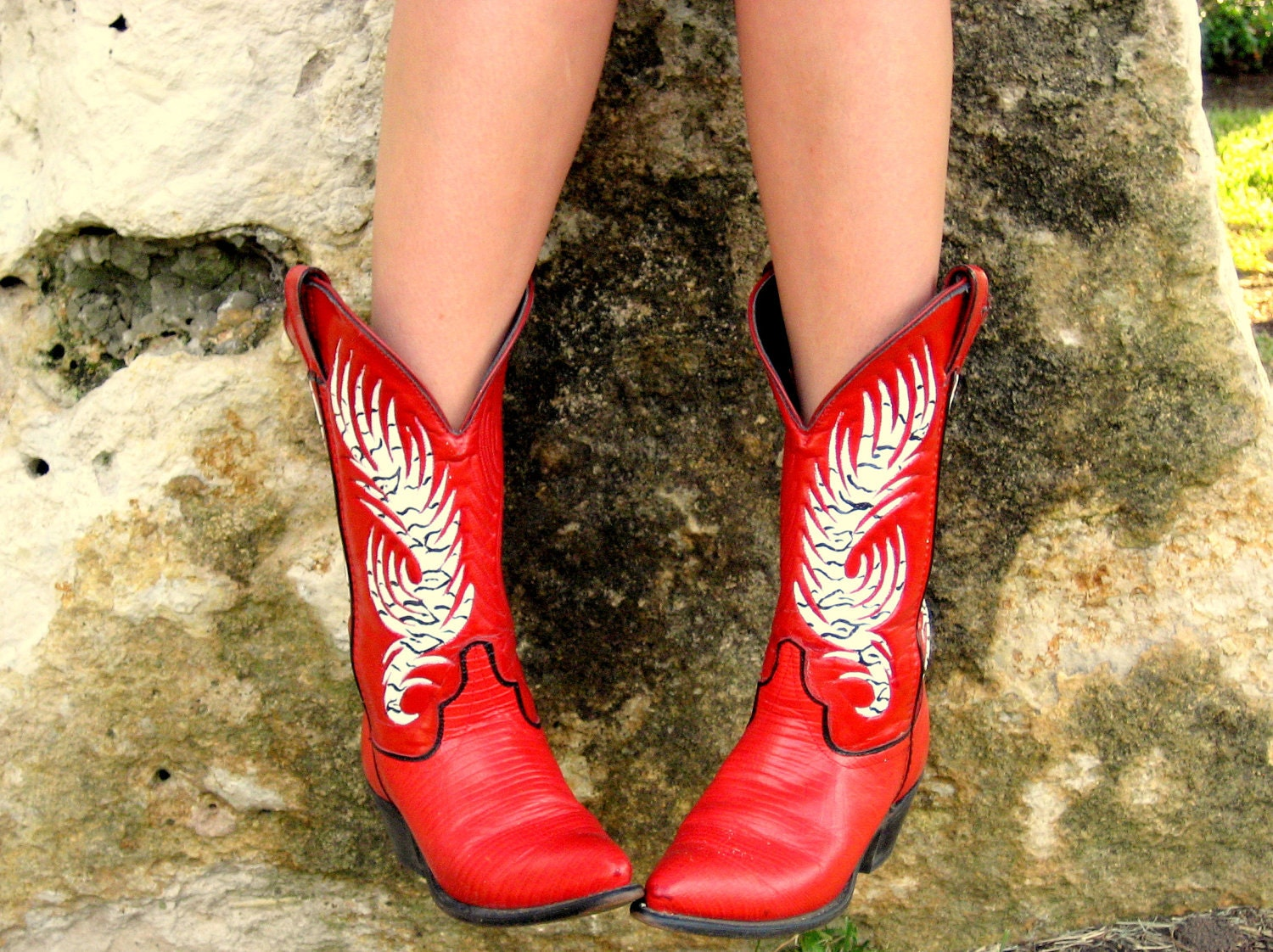 Original Hand Painted Cowboy Boots  Shoes And Socks  Pinterest