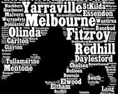 RESERVED FOR MICHELLE - Melbourne Typographic Map