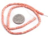 Bead destash Peachy pink coral beads