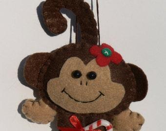 Felt Monkey Ornament - Female