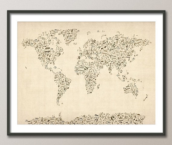 Image result for musical map of the world