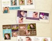 INSTANT DOWNLOAD - Facebook Timeline Cover Collection - Birth Announcements - E442