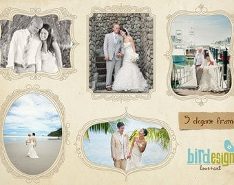 INSTANT DOWNLOAD - Whimsical frames templates for photographers - E102
