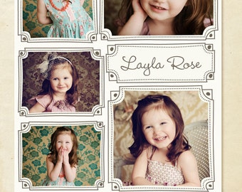 INSTANT DOWNLOAD - Blog Board & 16x20 Collage Template - Layla Collage - E255