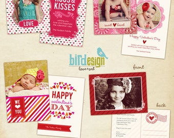 INSTANT DOWNLOAD - 4 Valentine Cards Templates - Love Candies Set - E263