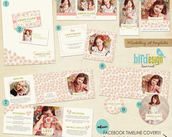 INSTANT DOWNLOAD - Pre-made Marketing Set - Sweet Pink - E325