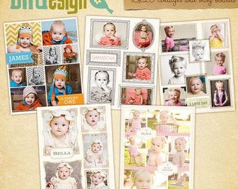 5 Blog Boards & 16x20 Collage Templates - E414