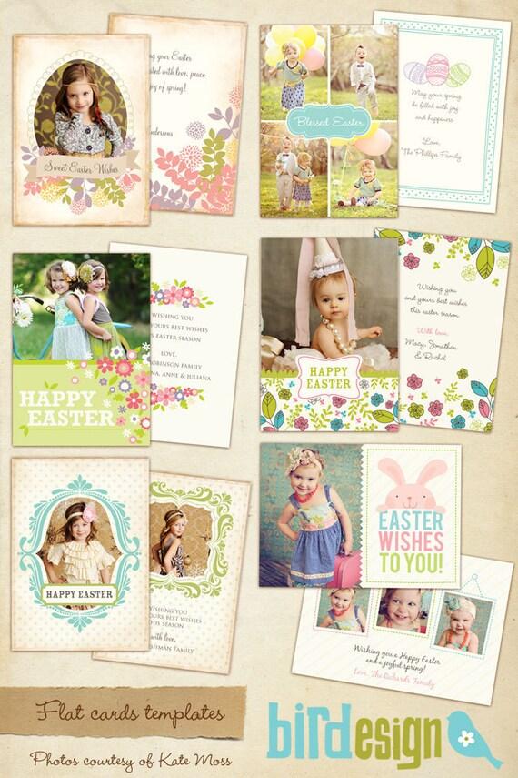 6 Easter Photocards - PSDTemplates - Vintage Easter - E338