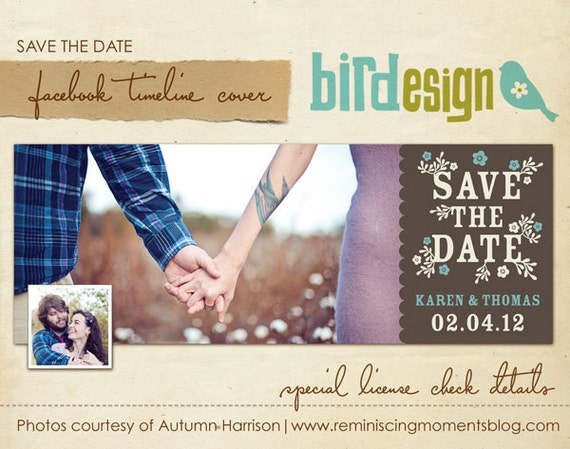 Facebook Timeline Cover Collection Save The Date By Birdesign