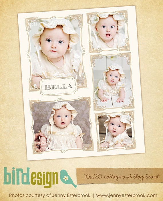 INSTANT DOWNLOAD - Blog Boards & 16x20 Collage Template - E417