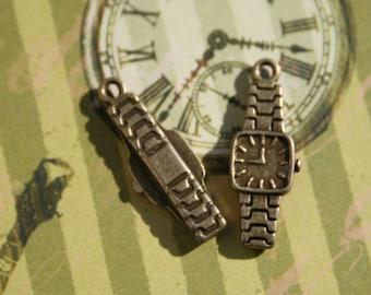 1 Watch Charm Antique Bronze U.S Seller - sc161