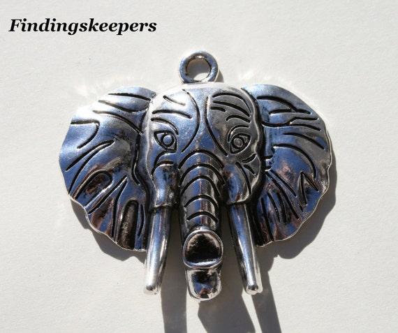 1 - 50mm x 55mm Elephant Head tc052-2