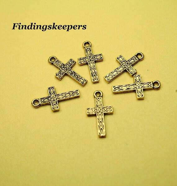 5 - 17 x 9 mm Gold Crosses gc008-1