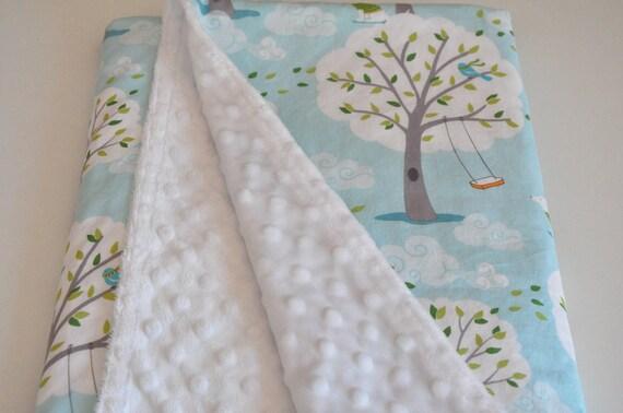 BABY/TODDLER Minky Blanket in Backyard Baby