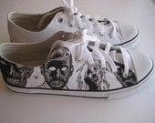 Handpainted Zombie Shoes *Reduced Price*
