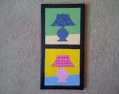 Quilt Art: Lamp Quilt Painting