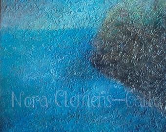 """Original acrylic painting """"Infinito Azul"""""""