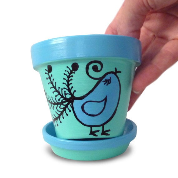 Painting Clay Pots With Chalk Paint