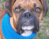 Hand Crocheted Dog Cowl Scarf Size Medium-You choose color