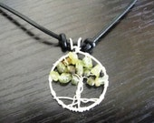 Made to Order, Necklace, Wire Wrapped, Handcrafted Tree of Life Pendant, Womens Necklace, Mens Necklace, Peridot Pendant, August Birthstone
