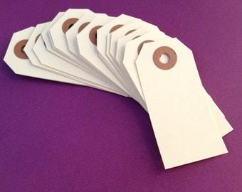 """100 Manila Gift Tags - Small Blank Shipping Tag 2 3/4"""" x 1 3/8"""" - DIY"""