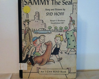 Sammy The Seal- Harper and Brothers- RARE FIRST EDITION, First Printing, 1959, Children's Vintage Book