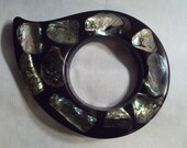 Mid Century Wondermold Industries USA Vintage Abalone Resin Trivet Hot Plate