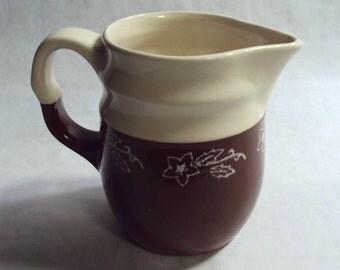 Vintage Universal Cambridge Pottery Oxford Stoneware Brownie Ware Batter Pitcher Milk Jug