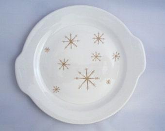 Vintage Royal China USA Star Glow Tab Handled Serving Platter Cake Plate