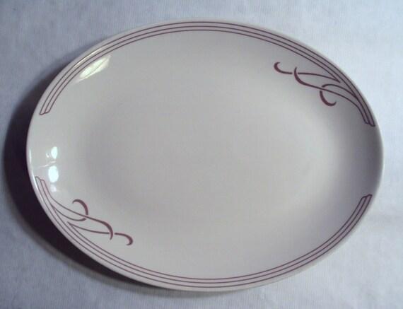 Vintage Homer Laughlin Best China Restaurant Ware Cambridge Oval Serving Platter