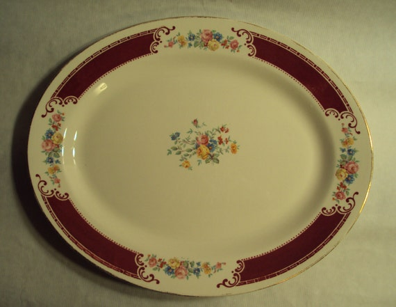 Vintage Homer Laughlin China Brittany Majestic Oval Serving