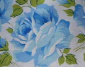 RESERVED    White Cotton Pillowcase Blue Roses