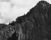 Ah, the Sierras.  Black and White photo 8x10 fine art print. 6 in Solid as a Rock series.