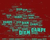 "Wordphoto ""Carpe Diem""."