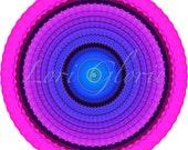 Mandala, Art Print, Print, Digital, Circle, Cosmos, Tibet, Buddhist, Meditation, Round Pattern, Monk, Kaleidoscope