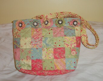 Quilted Pastel Purse