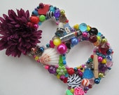 Letter B Embellished Jewelry, Beads, Shell, Zebra Colorful Wall Hanging - 2GirlsForever