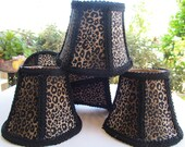 Leopard Print Mini Lamp Shades Chandelier Shades