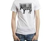 Zebra - T Shirt -   Stedman Classic Men - White Shirt  - Available in S, M, L, XL