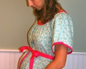 Custom Maternity Hospital Gown, Made to Order Delivery Gown